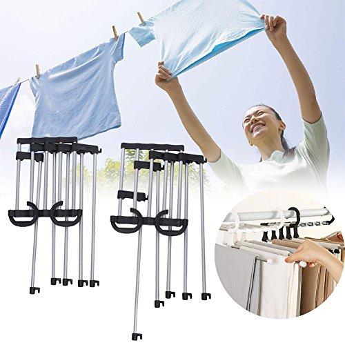 CAIDUD Folding Ties Scarf Shawl Hanger Hook Rack Design Organizer Space Saving Easy