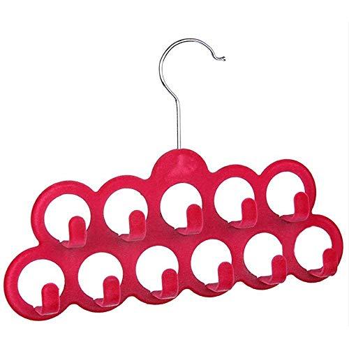 Hangers Racks - Nocm Multifunctional Scarf Hanger With 11 Hooks In Flocking Random Color - Scarf Hook Hanger Hooks Hangers Racks Hanger Velvet Heart Multi Garment Circle Necktie Slip Shawl
