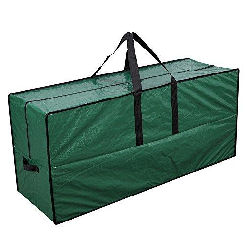 "Primode Artificial Xmas Tree Storage Bag with Handles  45"" x 15"" x 20"" Holiday Tree Storage Case  Protective Zippered Xmas Tree Bag Green"