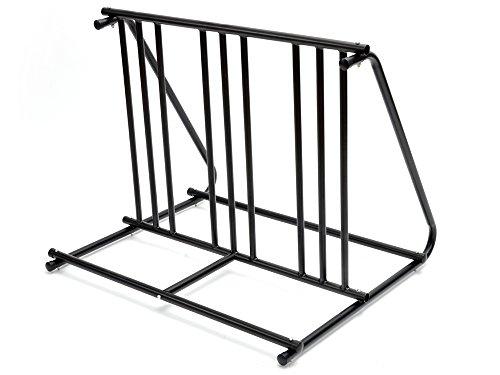 TMS Hd Steel 1-6 Bikes Floor Mount Bicycle Park Storage Parking Rack Stand 2 3 4 5