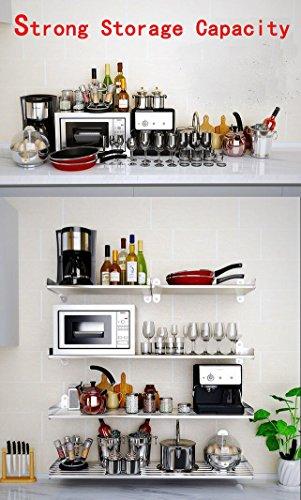 1 set Wall Mounted Floating Shelf Home Organizer Storage Book Case 7 Round Bar 47inch