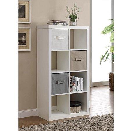 Better Homes and Gardens 8-Cube Organizer White White