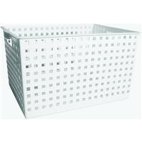 InterDesign Modulon Household Storage Basket for Closet Office Garage Bathroom and more - 103 x 133 x 18 White
