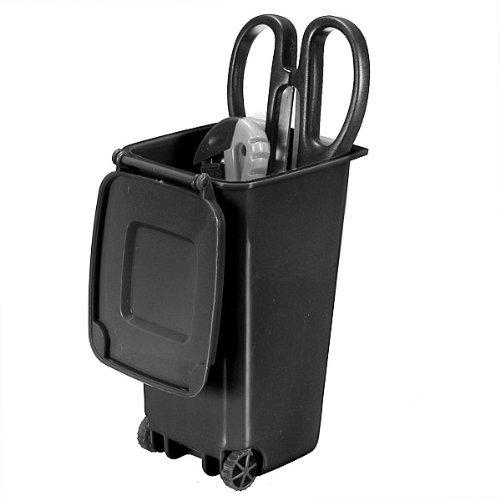 SPHTOEO Trash Can and Recycling Mini Storage Bin Pen Holder Black