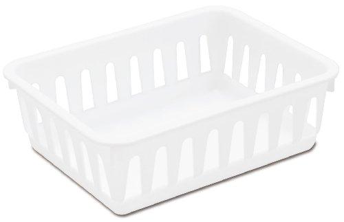 Sterilite 16058024 Mini Storage Tray White 24-Pack