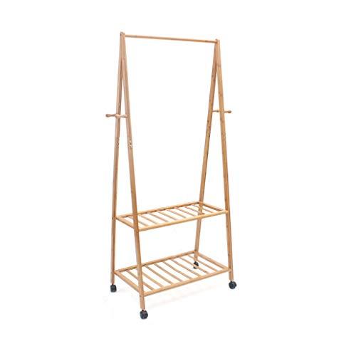 CS Coat Rack Bedroom Floor Racks Removable Bamboo Hangers Simple Creative Clothes Rack European Style Size  S