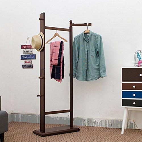 European Indoor Solid Wood Hanger Multi-functional Coat Racks Retro Bamboo Hangers 65x28x176CM L W H