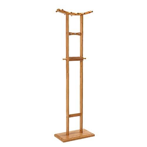 Q-Y-J Hanging Hanger Floorstanding Bedroom Coat Racks Standing Living Room Bamboo Hangers Pastoral Style 173 28 50cm