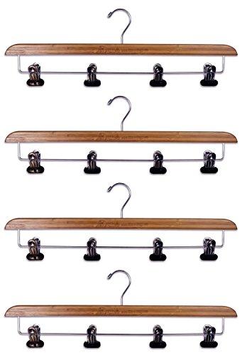 Set of 4-Super Duper Sturdy Bamboo Kilt Hangers