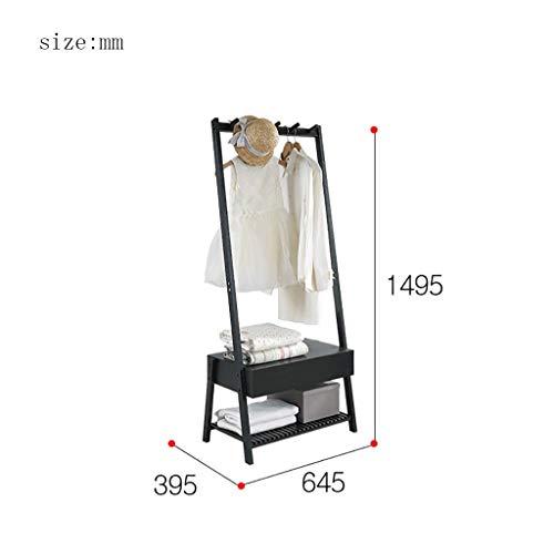 YWYMJ Coat Racks Hanger Bamboo Hanger Jacket Hanger 2 Layer Shoe Rack and 5 hat Rack Hook 6540150cm Color  B