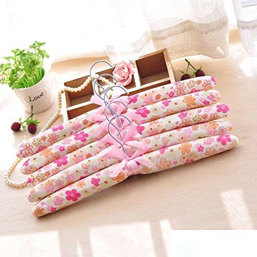 Pastoral Style Fabric HangersSponge Dress Non-slip Coat Hanger Adult Household Hangers-B