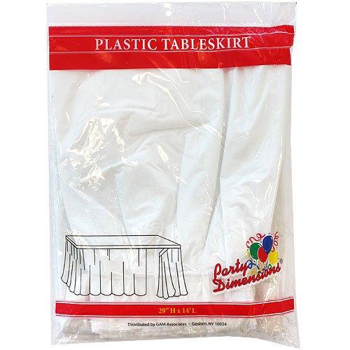 Plastic Table Skirt White 29H X 14L