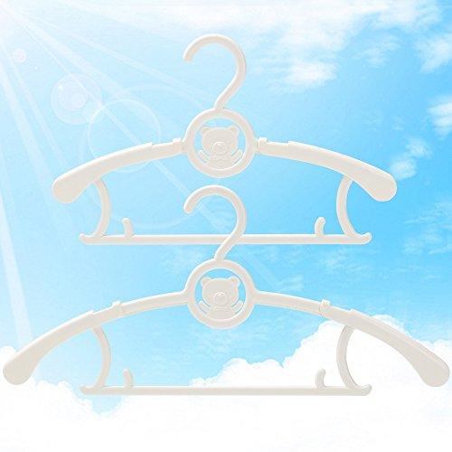 AJ 20 PACK No slip kids plastic hanger baby clothes hanger with adjustable arms 8810-2