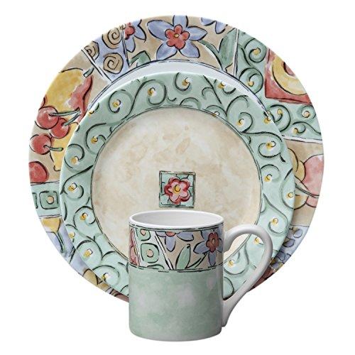 Corelle Impressions 16-Piece Dinnerware Set Watercolors Service for 4