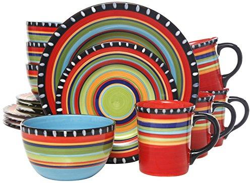 Gibson Elite Pueblo Springs 16-Piece Dinnerware set Multicolor