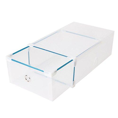LAYs Drawer Shoes Storage Box40x29x11cm Short Boot Foldable Plastic Transparent Stackable Shoes Case Organizer