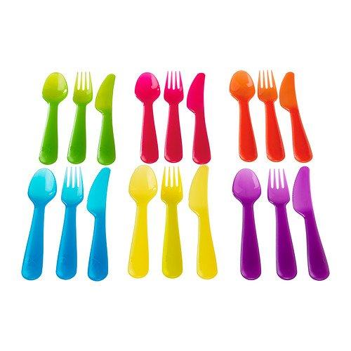 Ikea Kalas 90192962 18-Piece BPA-Free Flatware Set Multicolored