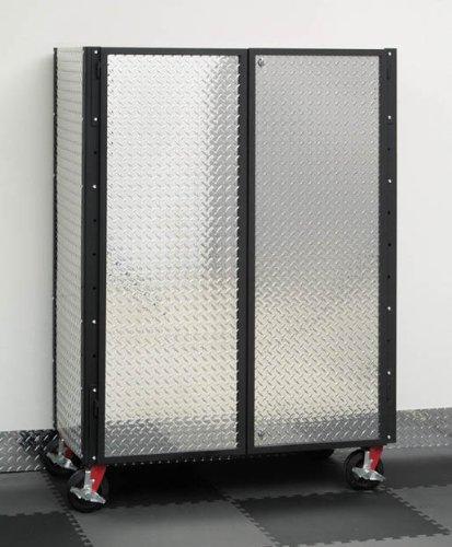 Garage Fabricators Diamond Plate Mobile Garage Cabinet
