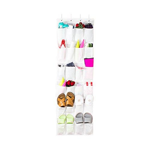 Shoe Organizer Over the Door 24 -Pocket Hanging Shoe Rack Door Shelf Hanger Holder Storage Bag