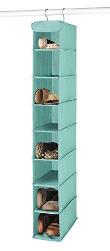 Whitmor 8 Shelf Hanging Shoe Shelves Turquoise