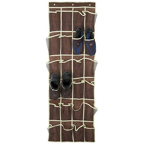 24 Pocket Shoe Space Door Hanging Organizer Wall Bag Storage Shoes Holder