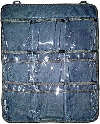 FinWings Eared Hanging Cabinet Door Organizer 18 x 14 in 9-Pocket Gray