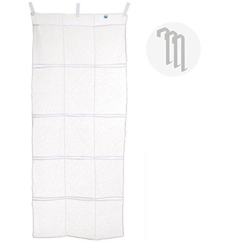 Over the Door Organizer - Hanging Closet Storage Fire Retardant  White Mesh 15 Pocket by Cruise On