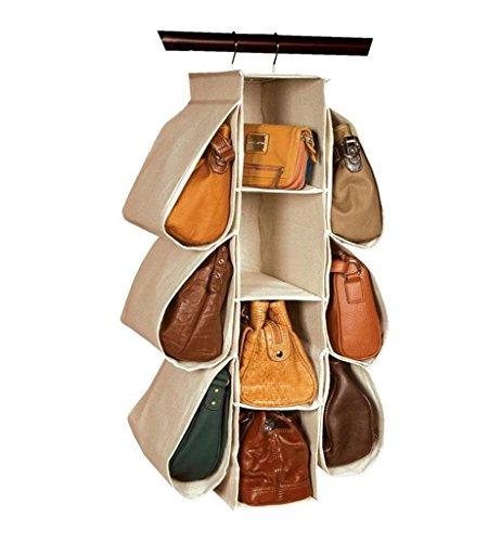 GYMNLJY Wall Door Closet Hanging Storage Bag Non-woven fabric Storage bags 10 grid Storage bag Clothing and shoe Organizer hanging