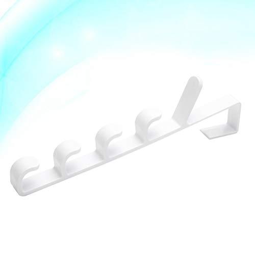 TOPBATHY 3PCS Pratical Durable Useful Convenient Safe Hanging Rack Door Hanging Rack Multifunctional Hooks Towel Hooks