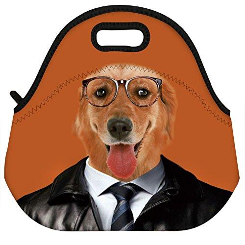 VIPbuy Waterproof 3D Cute Dog Animal Design Women Men Neoprene Thermal Insulated Lunch Bag Box Tote for Work Outdoor