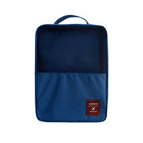 Yiuswoy 7 Sets Multifunction Packing Cubes Luggage Storage Bag Travel Organizer Bag Toiletry Bag Navy Blue