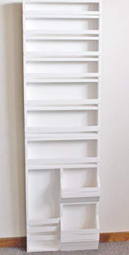 Full Door behind the door mounted spice rack for 24 wide door