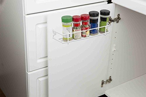 Home Basics SR44715 Inside Cabinet Door Spice Rack Organizer White