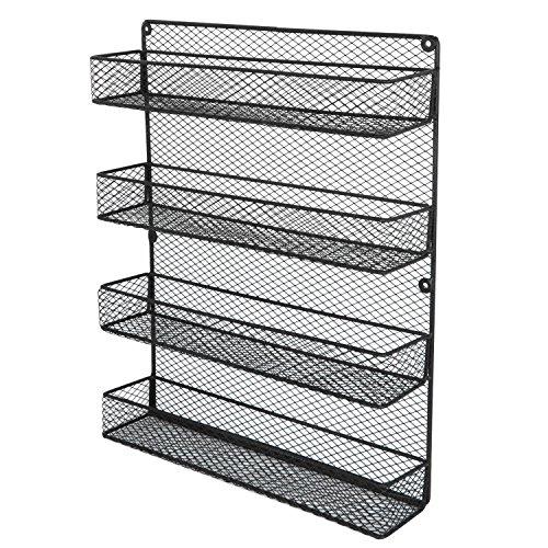 Ideal Shelf Pantry Holder Door Spice Rack Cabinet Kitchen Storage Organizer Wall Mount