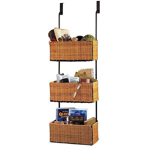 Over The Door Rack With 3 Baskets Brown