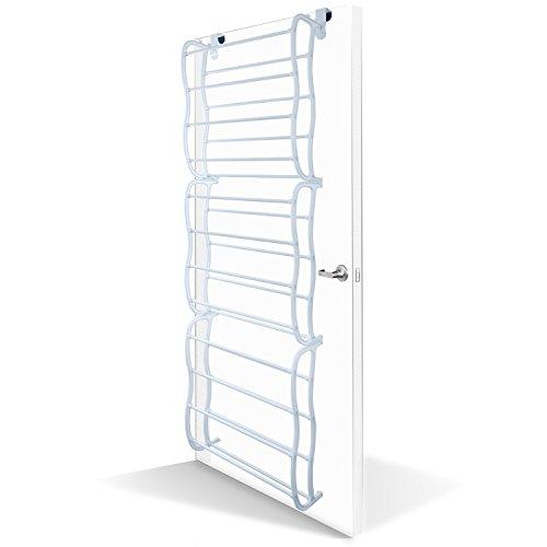 OxGord Shoe Rack for 36 Pair Over the Door Shelf Closet Wall Hanging Organizer Storage Stand