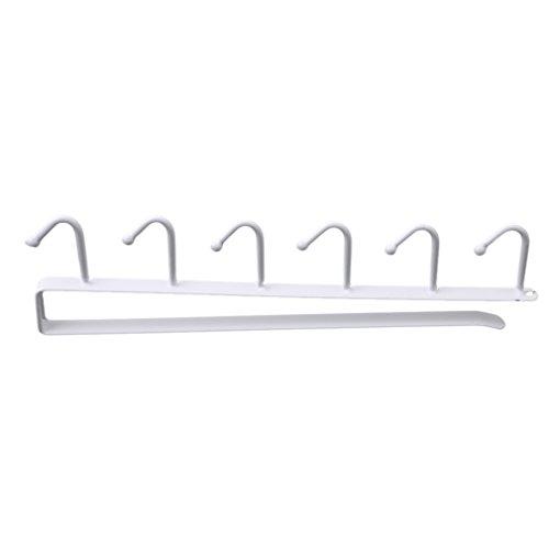 HS Under Shelf Cup Storage Drying Rack Metal Mutifunctional Kitchen Utensil Rack for Hanging White