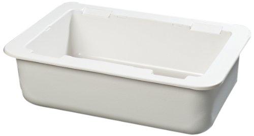 Carlisle CM104202 Coldmaster Full Size Insulated Cold Pan Holder 241 Quart Capacity 6 Deep White