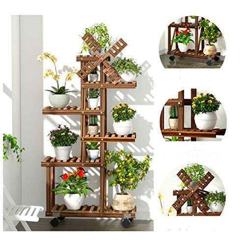 Flower Stand Wooden Fleshy Flower Pot Shelf Multi-Layer Solid Wood Floor Indoor Living Room Home Flower Stand Rack