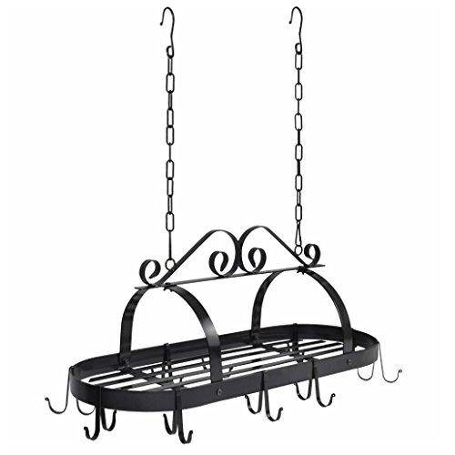 BCP Hanging Iron Pot Rack Kitchen Storage Pan Hanger Kitchen Storage Cookware