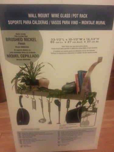 Brushed Nickel Wall Mount Bookshelf Wine  Pot Rack