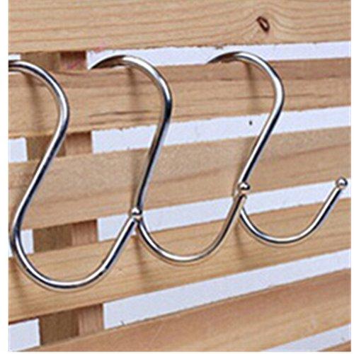 KAKATM 15x Stainless S Hooks Kitchen Pot Pan Hanger Clothes Storage Rack S