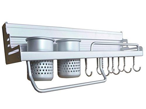 Aluminum Space Kitchen Wall Mounted Pot Rack 1set