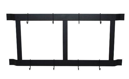 Rogar Ultimate Wall Mounted Pot Rack VerticalHorizontal in Black