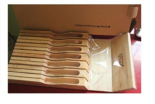Cooking Pleasures In-Drawer Knife Storage Block