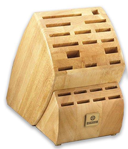 Mundial Solid Wood KB-23 Series 23-Slot Knife Storage Block