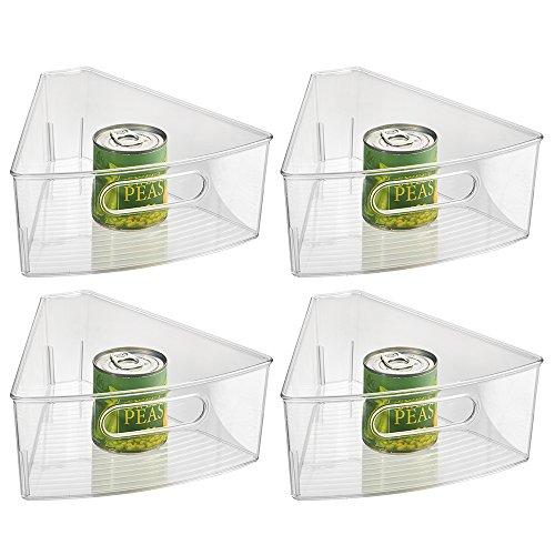 iDesign Kitchen Lazy Susan Pantry Cabinet Binz 18 Set of 4 Clear