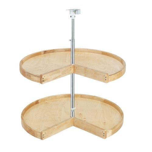 31 Rev-a-Shelf 4WLS Lazy Susan - Classic Wood - Pie Cut Shape - Double Shelf