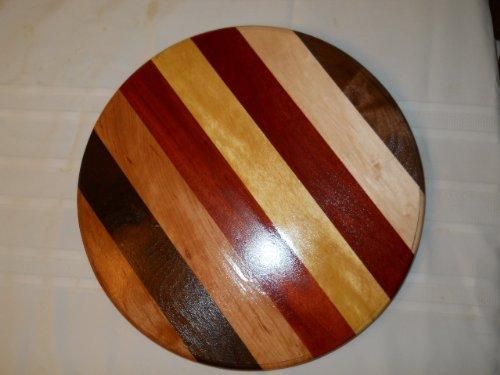 Exotic Wood Lazy Susan - Turntable 16 Diameter