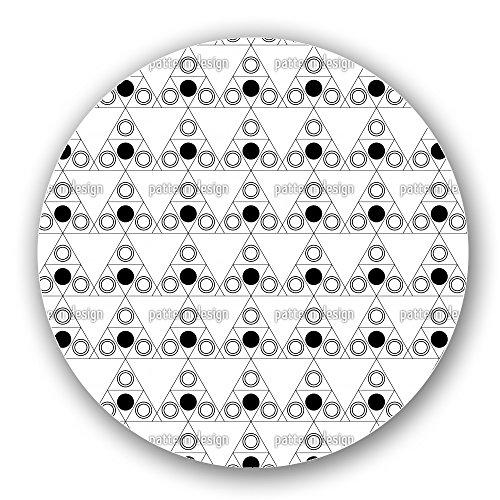 Triple Dot Black Lazy Susan Large Black Melamine Turntable Kitchen Storage Custom Printed